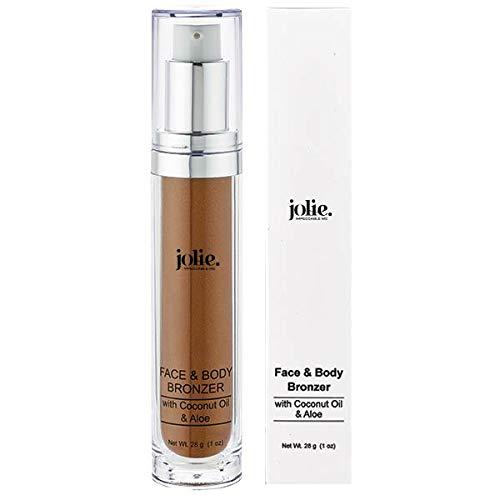 Jolie Face & Body Bronzer with Coconut Oil & Aloe Vera - Subtle Shimmer (28g)