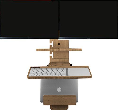 - StandCrafted DaVinci: Multi-Monitor Wall-Mounted Standing Desk (Universal)