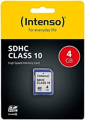 Intenso 4GB SDHC - Tarjeta de memoria SDHC de 4 GB (20 MB/s, clase 10), azul