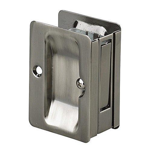 Richelieu Hardware - 1700ANPSBC - Pocket Door Pull with Passage Handle - Rectangular - Antique Nickel  Finish Richelieu Nickel Pull