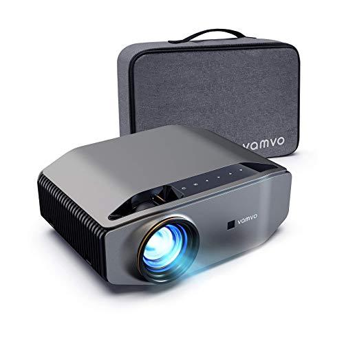 """Vamvo Proyector Nativo 1080p Full HD 7000 Lux con Dolby, Pantalla de Imagen Máx de 300 """"Ideal para Cine en casa, Entretenimiento, Fiesta, Video Juego y presentación Comercial, etc."""