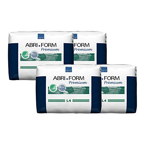 Abena Abri-Form Premium Incontinence Briefs, Large, L4, 48 Count (4 Packs of 12)
