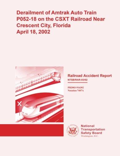 Download Railroad Accident Report: Derailment of Amtrak Auto Train P052-18 on the CSXT Railroad Near Crescent City, Florida April 18, 2002 (Railroad Accident Reports) PDF