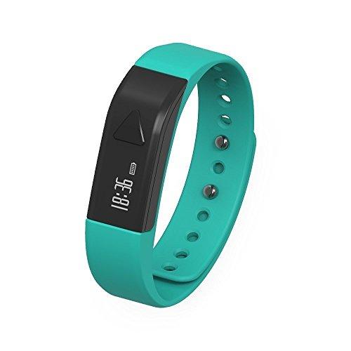 Juboury Fitness Armband, Fitness Tracker mit Schrittzähler, Schlafüberwachung, Anrufer- und Nachrichtenanzeige für iOS- und Android Smartphones (Blau)