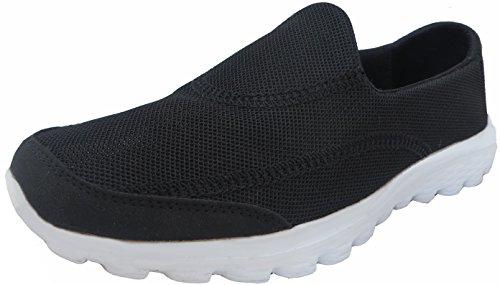 Mujer Go Caminar Get Fit Zapatillas deporte zapatos atléticos zapatos de caminar deporte gimnasio Dek Black Breathable Mesh