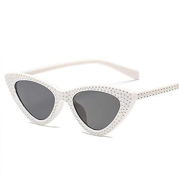 Yuanz Rhinestone pequeño Sexy Cat Eye Sunglasses Mujeres ...