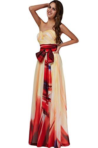 ivyd ressing Mujer de gran calidad diseño floral gasa vestido de fiesta Ball vestido Prom vestido para vestido de noche Nazisse B