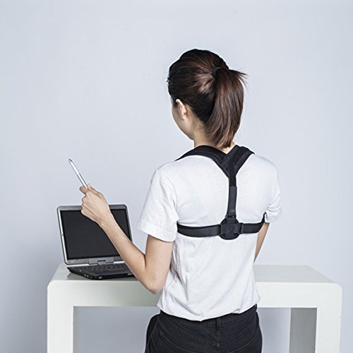 BEST POSTURE CORRECTOR - Clavicle Support Brace, Primate Back Brace, Upper Back Pain Relief, Back Straightener and Trainer, Upright Go, Posture Corrector for Women or Men, One Size by OVATION HOME by Ovation Home