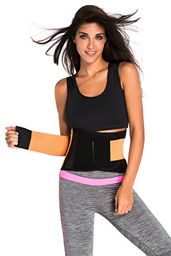 Orange Power Belt Fitness Waist Trainer Shape Wear Cincher Corset