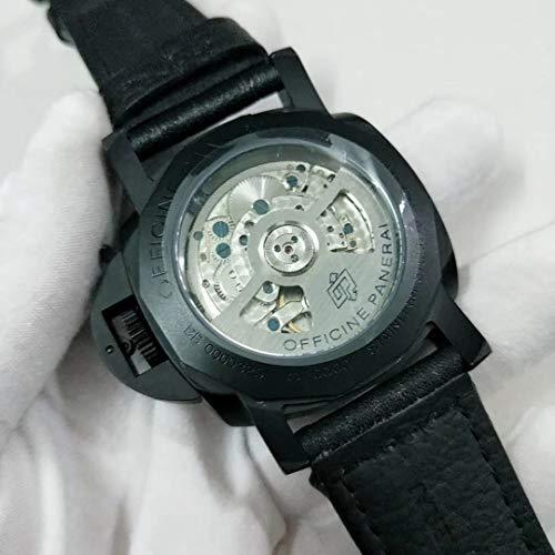 JFfactory klassiskt nya män automatisk mekanisk svart läderfodral 10 dagar GMT safir rostfritt stål lysande 1950 klockor 44 mm