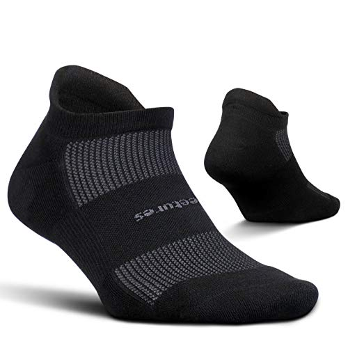 Feetures! High Performance Cushion No Show Tab Athletic Running Socks