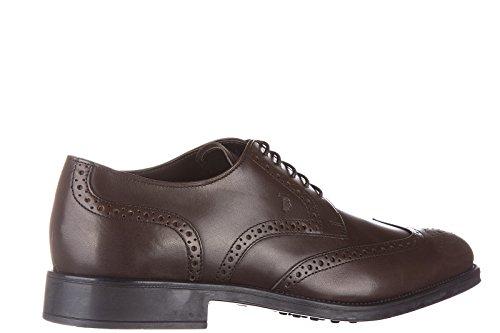 Tods scarpe stringate classiche uomo in pelle nuove derby bucature marrone Descuento 100% Auténtico FrxN0pe2z