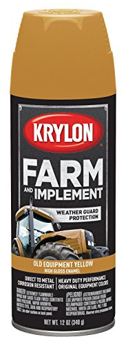 Krylon 1953 Krylon Farm & Implement Paints Old Equipment Cat Yellow 12 oz. Aerosol Krylon Farm & Implement Paints - Equipment Paint