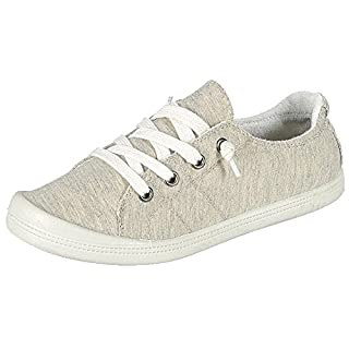 Forever Link Women's Classic Slip-On Comfort Fashion Sneaker,Beige 8