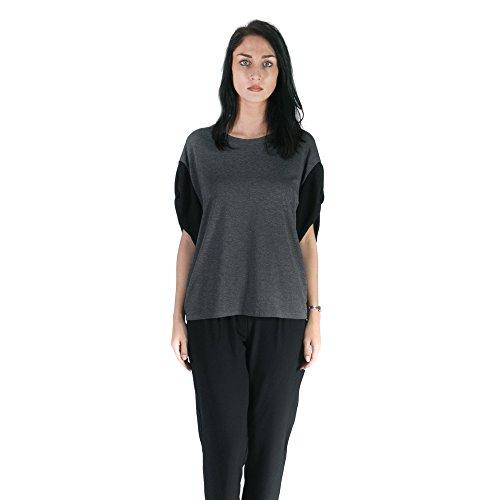 Republica1946 Camisa de mujer con largesleeves RPDIMC01 Gris