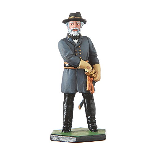 Civil War Figurine (Tin Toy Soldier US Civil war Confederates General Robert Lee hand painted metal sculpture miniature figurine 54mm #CW07)