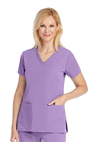 Grey's Anatomy Signature 2115 V-Neck 3 Pocket Top Violet Haze (Violet Fashion)