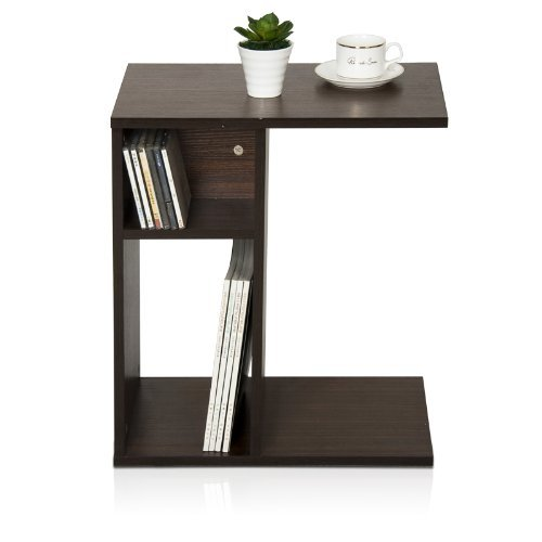 Sofa end table slim side tables storage furniture accent for Slim side table