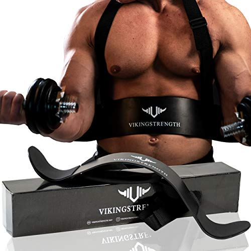 Vikingstrength Bicep Tricep Arm Blaster for Preacher Curl Effect Solid Arm Isolator Helps You Increase Muscles, Definition and Strength – Premium Quality for Weightlifting