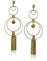 Ettika Circular Gold-Tone Brass Earrings
