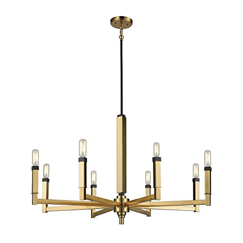 Elk Deco Chandelier Art (Elk 67758/8 Mandeville Chandelier, 8-Light 480 Total Watts, Oil Rubbed Bronze)