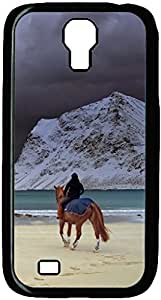 Horse Riding On Beach Designed Pattern Protevtive Hard Back Case Cover for Samsung Galaxy S4 I9500