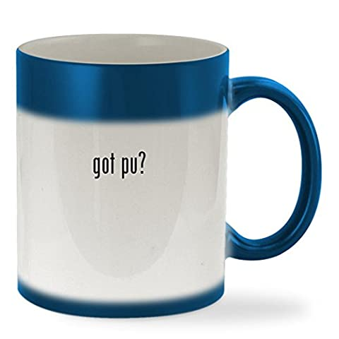 got Pu? - 11oz Color Changing Sturdy Ceramic Coffee Cup Mug, Blue (Mosin Nagant Pu Mount)