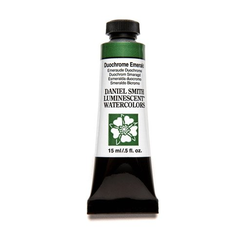DANIEL SMITH Extra Fine Watercolor 15ml Paint Tube, Duochrome, Emerald