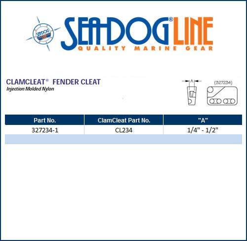 Sea Dog Fender Hanger AMRS-327234-1 Cam Cleat