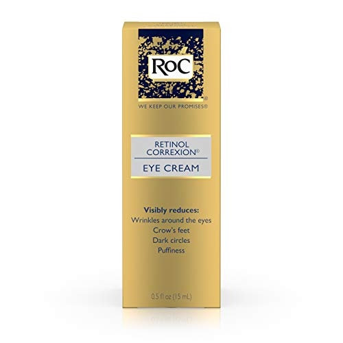 RoC Retinol Correxion Anti-Aging Eye Cream Treatment for Wrinkles, Crows Feet, Dark Circles, and Puffiness.5 fl. oz (Best Cure For Dark Circles Under Eyes)