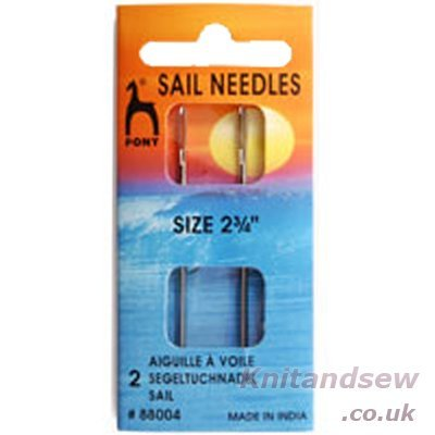 Pony Sail Needles: 2.75 inches, Steel, Multi, 4.5 x 2.8 x 9.8 cm P88004
