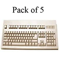 KEYTRONIC E03601P15PK / Beige PS2 Keyboard RoHS 5-Pack