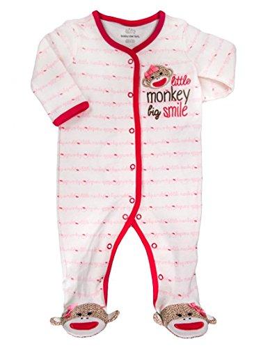 Sock Monkey Iconic Sleep n Play Footie (Monkey Sock Embroidery)