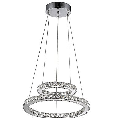 LightInTheBox Hotel Pendant Light Crystal Chandeliers Lighting Ceiling Lamps Fixtures with LED Warm and LED Cool White D2040CM CE UL