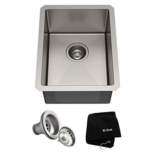 KRAUS Standart PRO 30-inch 16 Gauge Undermount Single Bowl Stainless Steel Kitchen Sink, KHU100-30