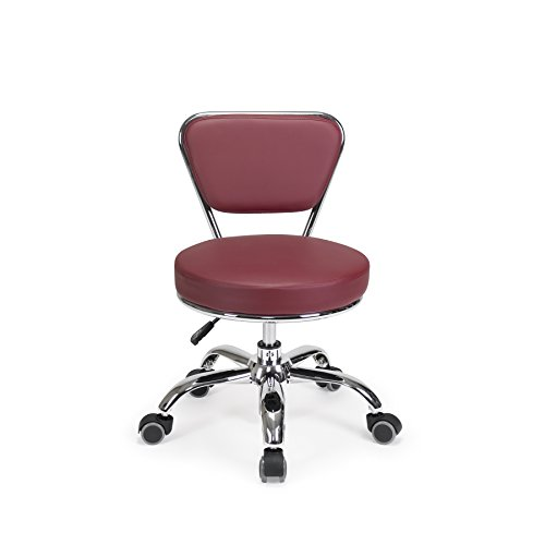 Salon Nail Pedicure Stool RED Pedicure Chair Pneumatic, Adjustable & Rolling Dayton