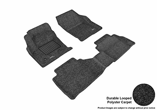 3D MAXpider Complete Set Custom Fit Floor Mat for Select Ford Fusion Models - Classic Carpet (Black)