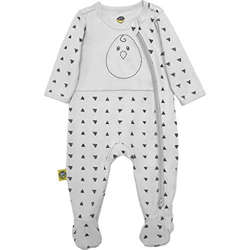 (Nested Bean Zen Footie Pajama Classic - Gently Weighted, Long Sleeved, 100% Cotton (6-12 Months, This Way 'n That Way - Grey))