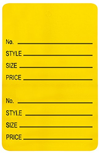 Amram 1.25 Inch x 1.875 Inch Unstrung Coupon Tags Perforated Printed with No; Style; Size; Price 1000 Tags Yellow (Sales Coupons)