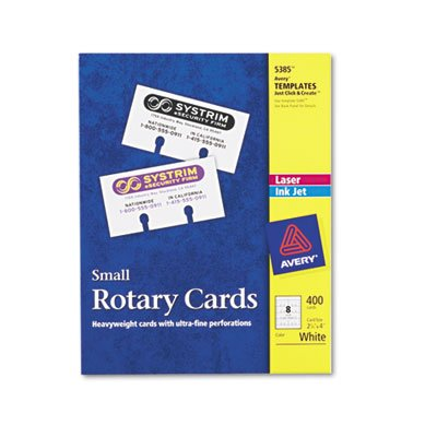o Avery Consumer Products o - Laser/Inkjet Rotary Cards, 2-1/8''x4'', 400/BX, White by Avery (Image #5)