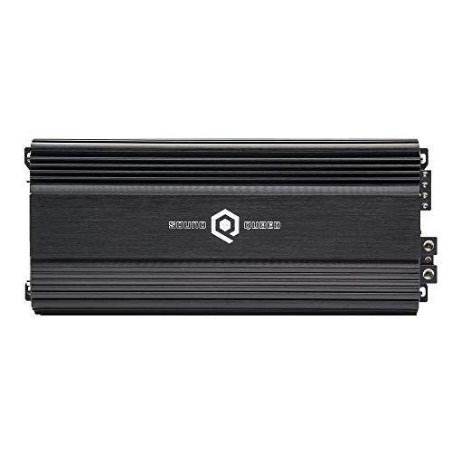 SoundQubed S1-2250 2300W RMS Single-Channel (Monoblock) Class D Car Audio Amplifier with Remote Gain Control (Big 3 and Battery Upgrade Required) ()