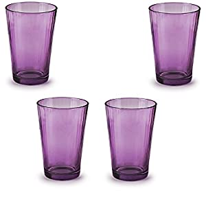 Circleware 44810 Spectrum Plum Juice Drinking Glasses, Set of 4, 7 Ounce