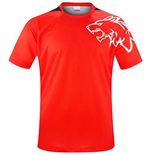 Wisdom Leaves Men's Downhill Jersey MTB Cycling Motocross Mountain Bike Shirt Short Sleeve Cycling Jersey Red/Black