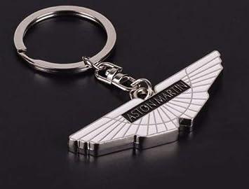Silver Aston Martin Keyring Keychain Wings Black And White Amazon De Auto