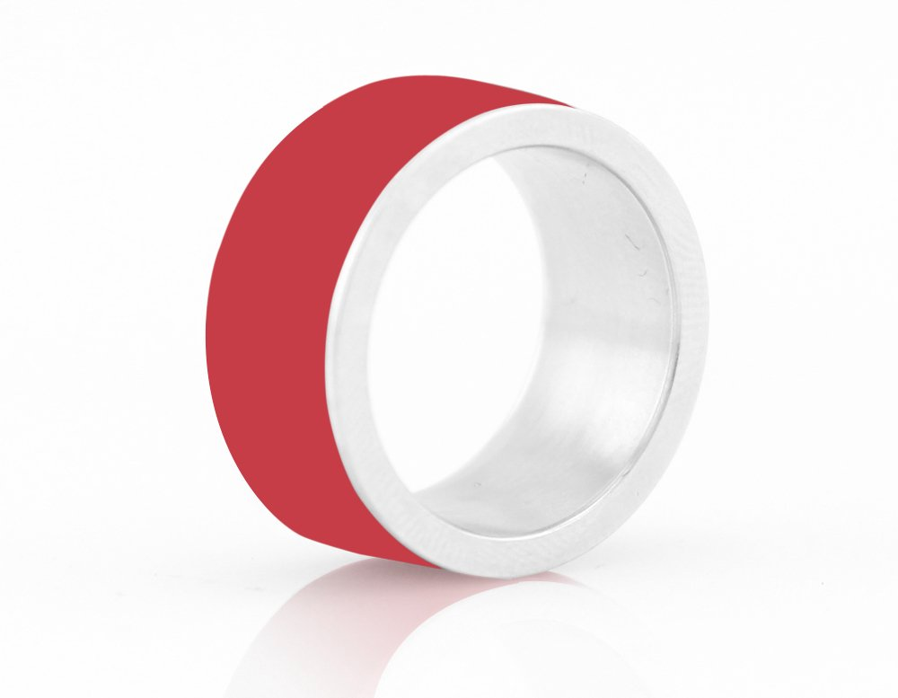 LYCOS Life NFC Smart Ring, Coral Red Size 8