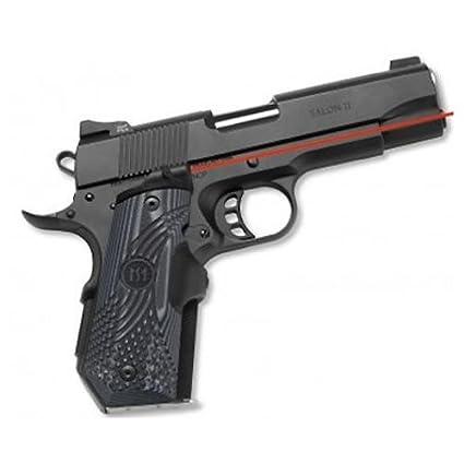 Crimson Trace LG-906 Master Series Lasergrips Red Laser Sight Grips for  1911 Bobtail Pistols - G10 Black/Gray