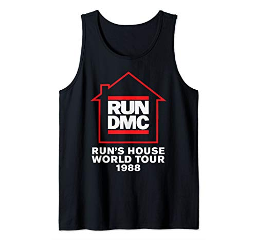 Run DMC Official Run's House World Tour 1988 Tank Top