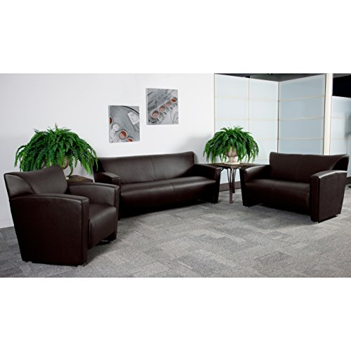 Flash Furniture HERCULES Majesty Series Reception Set in Brown by Flash Furniture