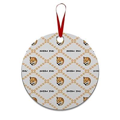 Style-In-Print-Custom-Holiday-Christmas-Ornament-Shiba-Inu-Dog-Paws-Aluminum