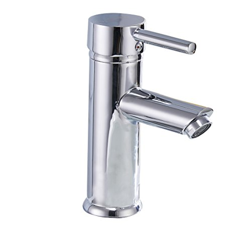 Greenspring Single Handle Bathroom Sink Faucet Stainless Steel Basin Mixer Taps,Chrome (Single Faucet Handle)